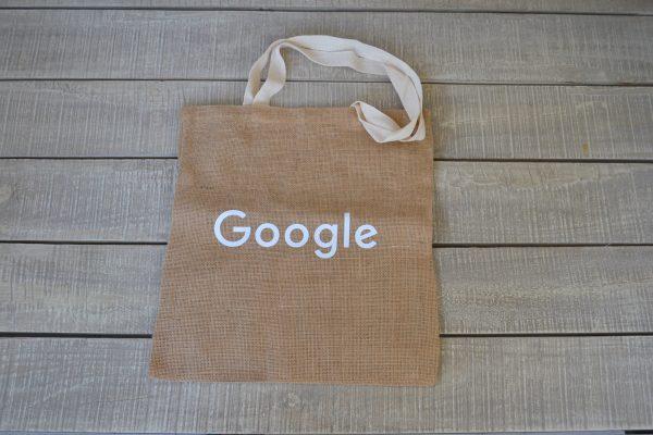 Google, Υφασμάτινη Τσάντα από Λινάτσα