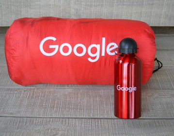 Google, Sleeping Bag & Drinking Bottle