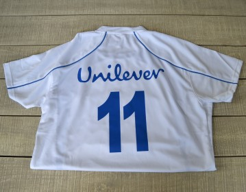 Unilever Fottball T shirt Back