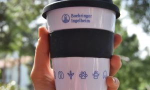 pp mug with silicone ring & lid