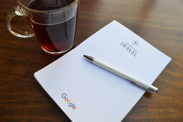 Google The way we travel notepad