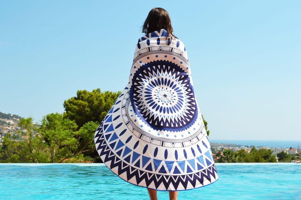 Nivea Beiersdorf Round Beach Towel
