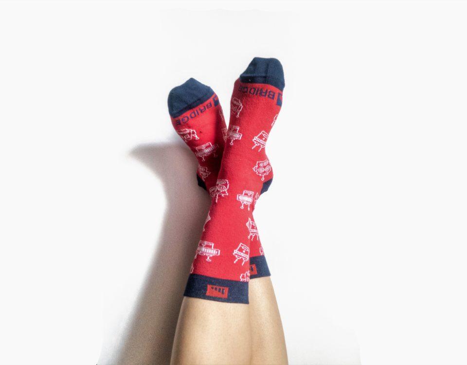 Instructure Bridge Red Socks