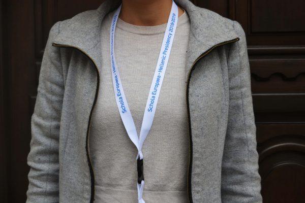 Schola Europaea Hellenic Presidency 2018-2019 Κορδόνι Λαιμού