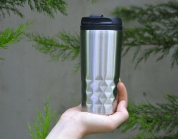 Unilever Stainless Steel Double Wall Travel Mug with PP Lid