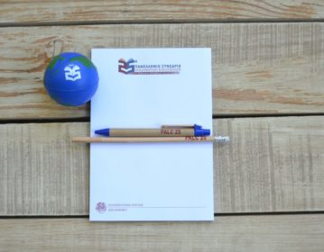 University of Crete, Academic Libraries Conference, Notepad, Pen, Pencil & Globe Antistress