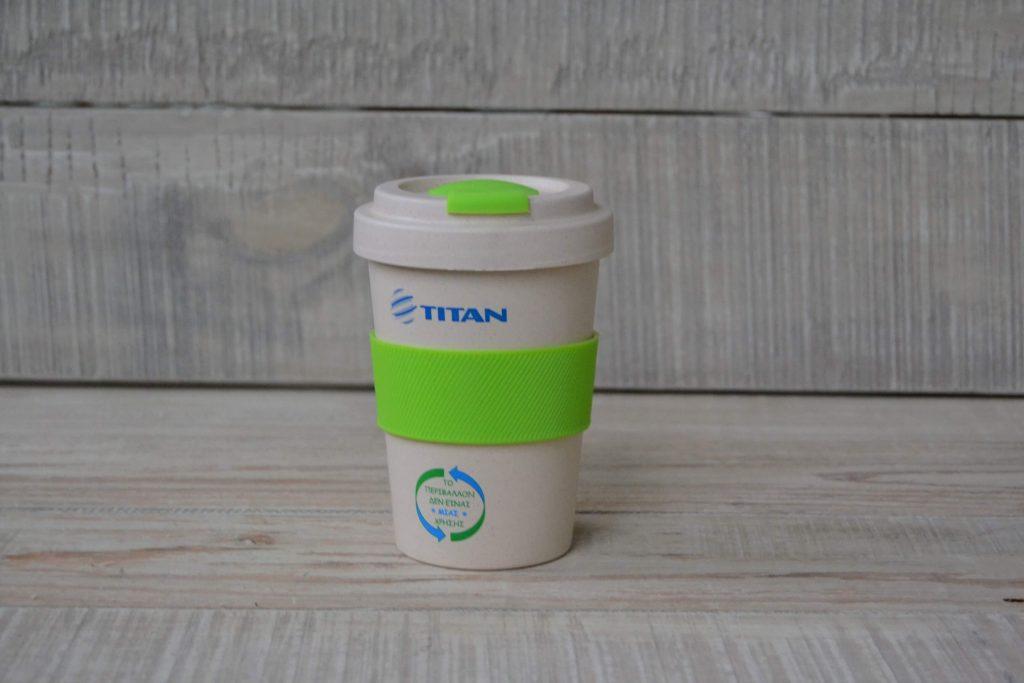 TITAN Bamboo Mug with Silicone Sleeve Lid