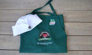 Butcher's apron & cap