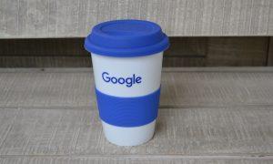 Google Κεραμική Κούπα Σιλικονένια Λαβή Καπάκι