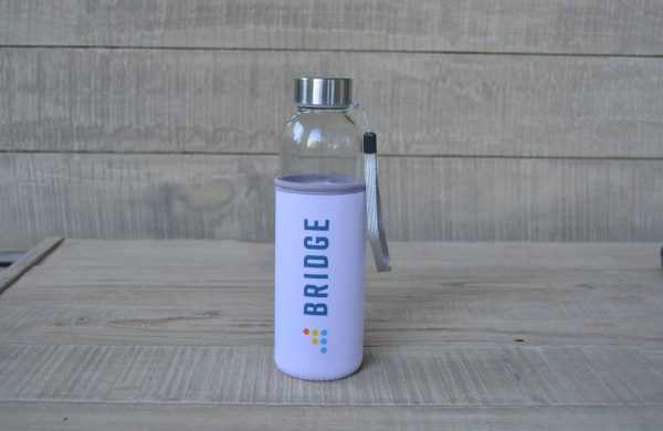 Instructure BridgeCon Γυάλινο Μπουκάλι Νερού σε Νεοπρέν Θήκη
