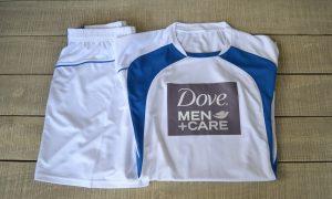 Unilever Dove Men Care football team t shirt & shorts