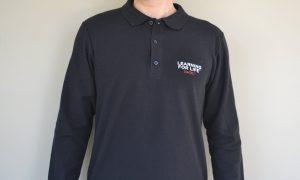 long sleeves black polo