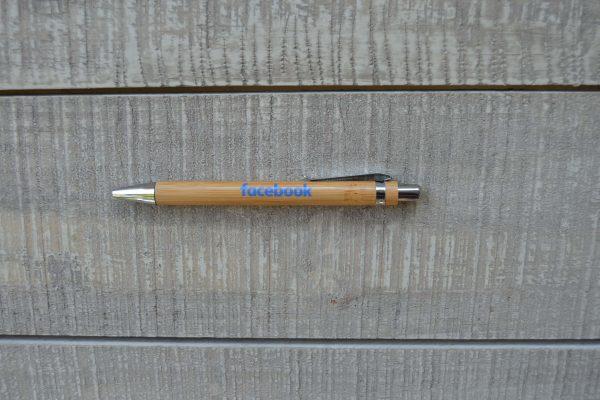 Valuecom Facebook Ξύλινο Στυλό
