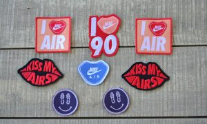 Nike adhesive embroidered patches