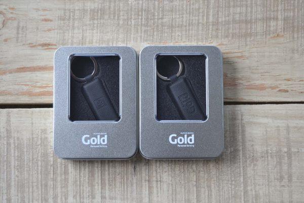 Alpha Bank Gold Δερμάτινο Usb σε Μεταλλικό Κουτί Δώρου
