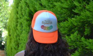 Α.Ε. Φρουτογεμιστά καπέλλο με δίχτυ φλούο πορτοκαλί