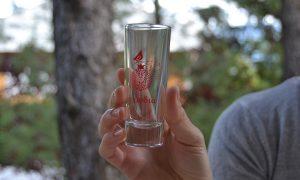 pomegranate glass shot