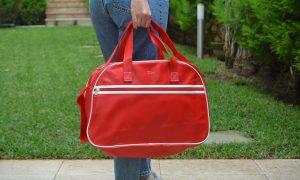 ACS κόκκινη τσάντα ταξιδιού vintage