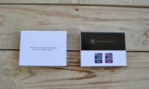 Alpha private bank sticky notes with hard cover