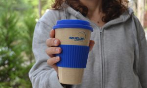 bamboo cup with silicone band ring
