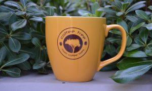 Big yellow ceramic mug