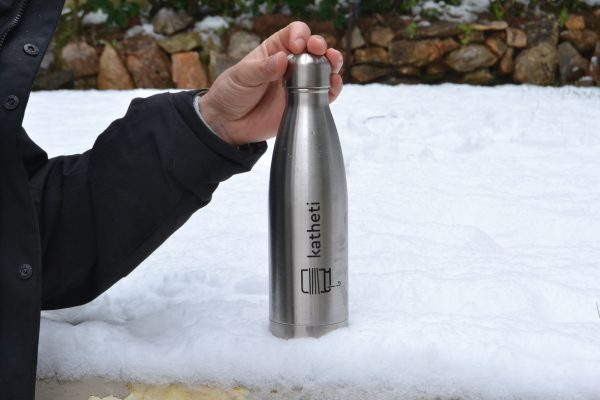 ανοξείδωτο μπουκάλι νερού διπλό τοίχωμα