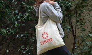 πάνινη τσάντα για ψώνια που διπλώνει