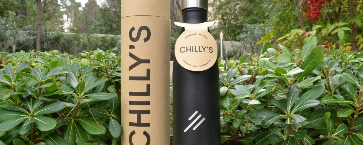 Μαύρο Chilly's μπουκάλι νερού