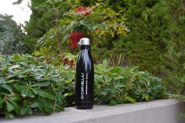 Oscar Hellas black stainless steel bottle