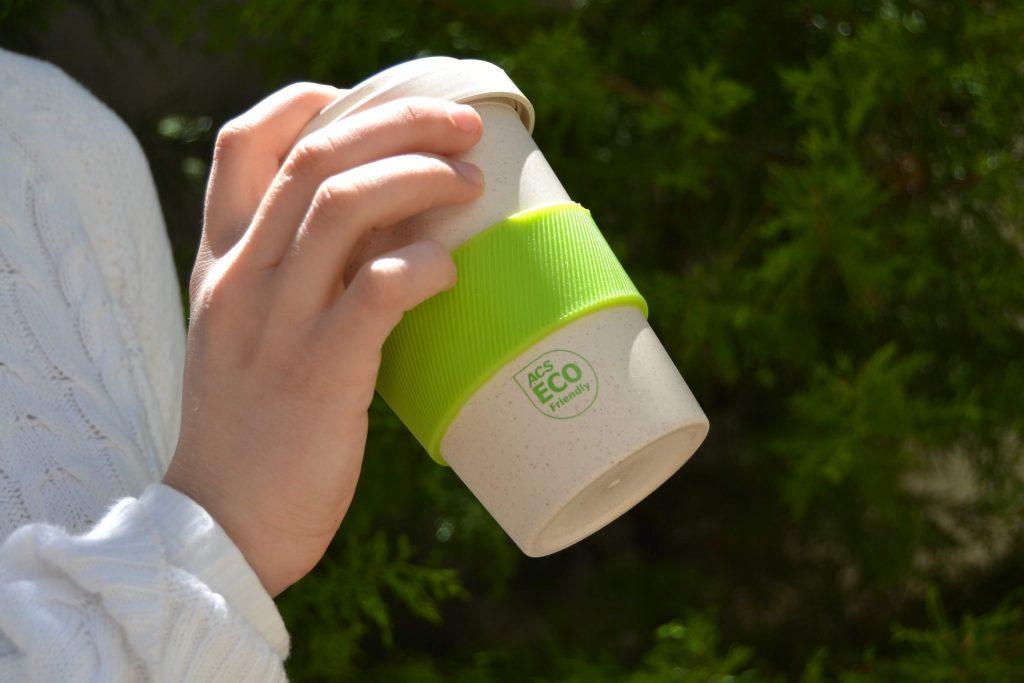 διαφημιστικό ποτήρι καφέ από μπαμπού για την ACS
