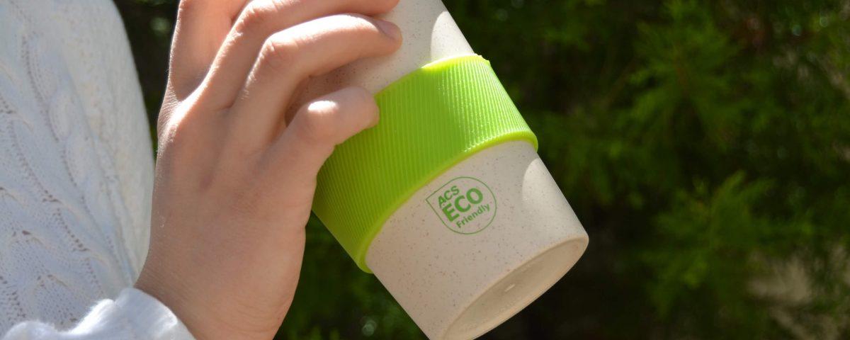 ACS Bamboo Travel Mug with Silicone Lid Ring