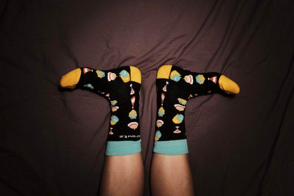 Skroutz κάλτσες με πλέξη ζακάρ