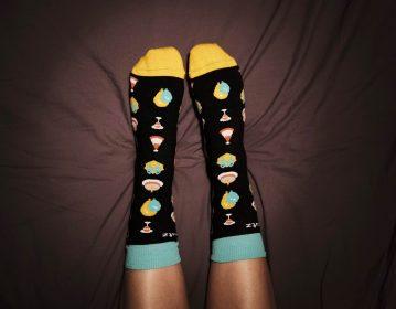 Skroutz jacquard woven socks for 16nth anniversary