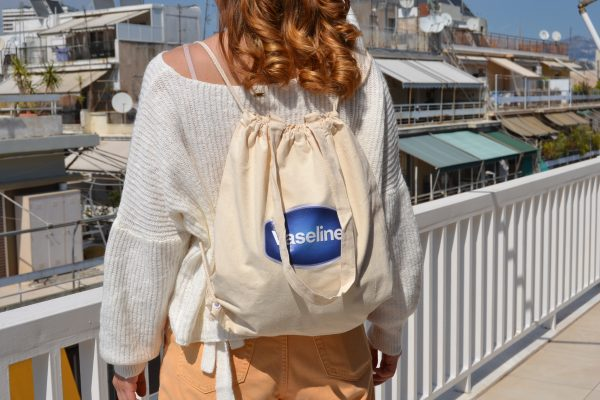 Unilever Vaseline σακίδιο πλάτης πάνινη τσάντα ώμου