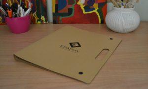 Epaphy folder συνεδρίων από χαρτόνι