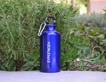 Ευρωγνώση, παγούρι νερού από αλουμίνιο με carabiner