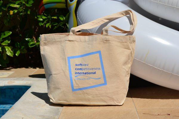 Softcom International τσάντα παραλίας από κανβά